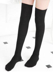 Solid Sports Over The Knee Socks -