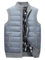 Solid Color Zipper Up Padded Waistcoat -