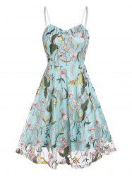 Flower Embroidery Lace Slip Layered Dress -