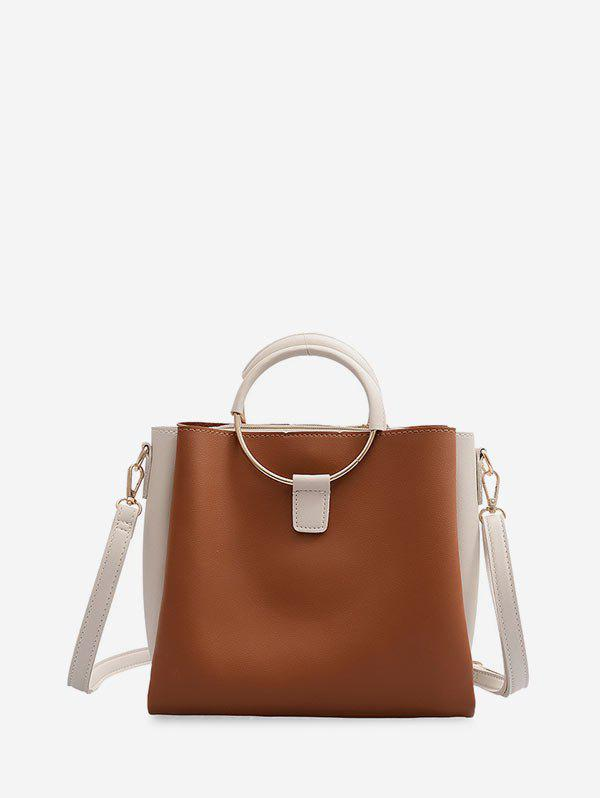 Two Tone Square Hand Bag