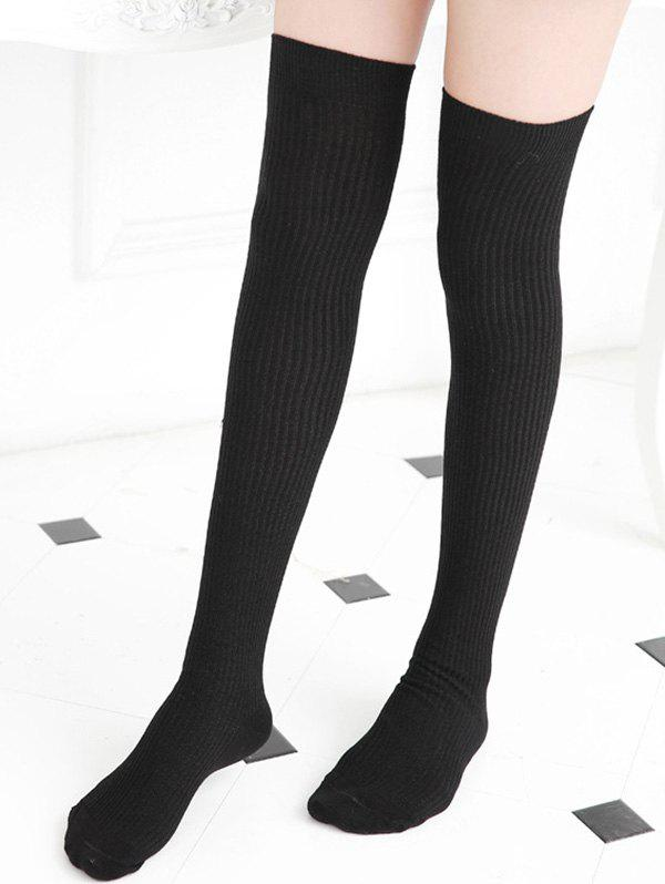 Outfits Solid Sports Over The Knee Socks