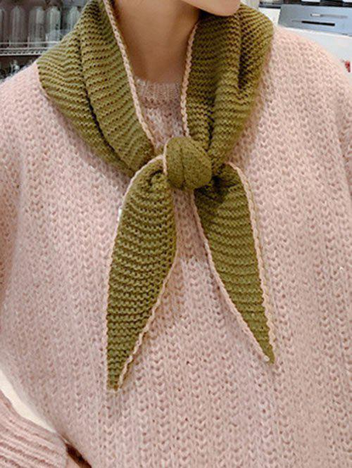 Affordable Winter Colorblock Reversible Knitted Scarf