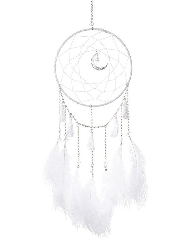 Store Handmade Crescent Tassel Feather LED Light Dream Catcher