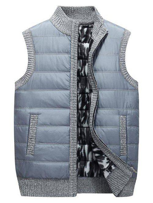 Buy Solid Color Zipper Up Padded Waistcoat