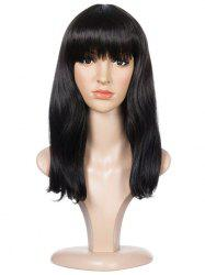 Full Fringe Long Natural Straight Synthetic Wig -
