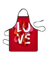 Valentines Day LOVE Flower Print Cooking Apron -