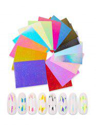 16Pcs Butterfly Pattern Laser Magic Nail Decals -