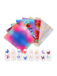 Butterfly Pattern Laser Magic Nail Decals -