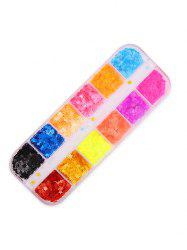 12 Color Mixed Star Sequined Nail Decoration -