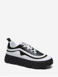 Two Tone Outdoor Platform Casual Sneakers -