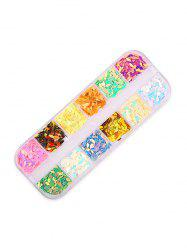 12 Color Mixed Sequined Nail Decoration -
