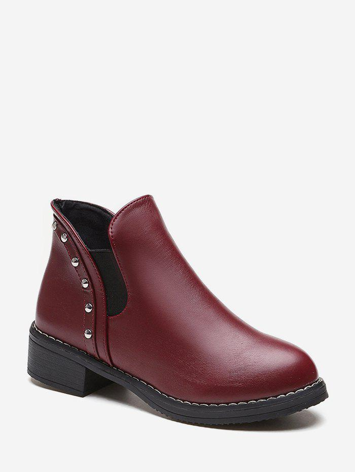 Fancy Studded Leather Chelsea Ankle Boots