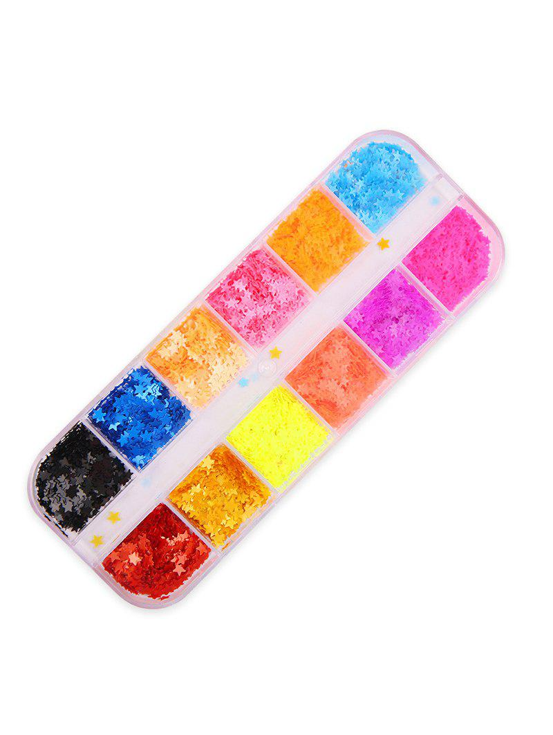 Latest 12 Color Mixed Star Sequined Nail Decoration