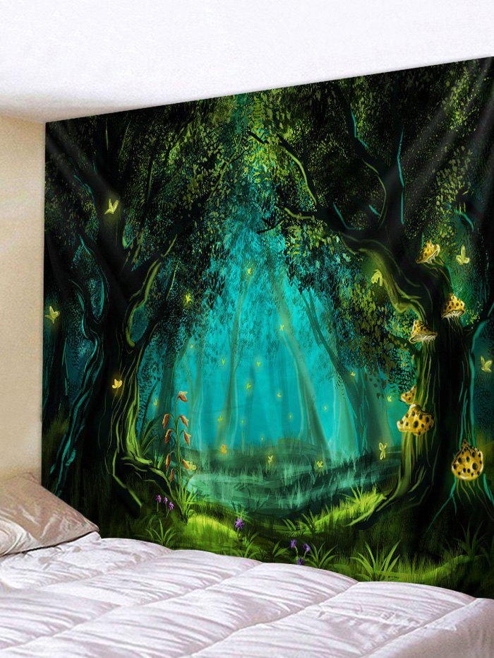 Outfit Forest Night Butterflies Print Tapestry Wall Hanging Art Decoration