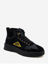 Triangle Graphic Fleece Cargo Boots -
