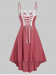 Lace Up Cami High Low Dress -