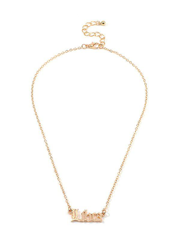 Affordable Horoscope Letter Hollow Necklace