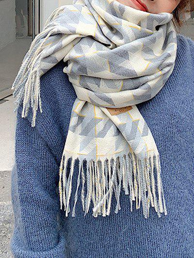Outfits Plaid Pattern Long Tassel Scarf