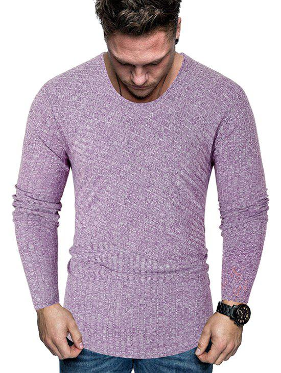 Outfit Stripe Textured Heather Long Sleeve T Shirt