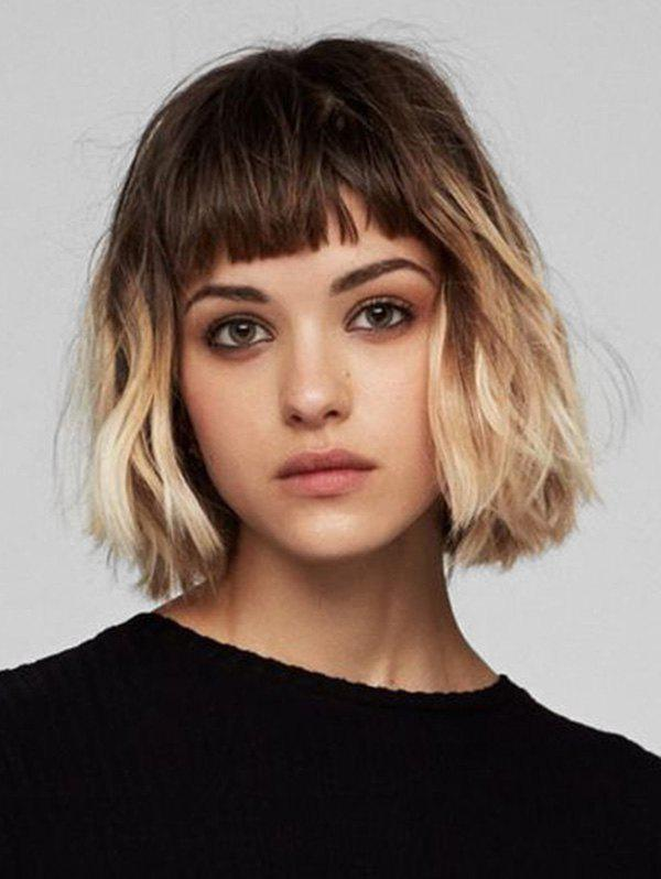 Store Short Full Bang Ombre Wavy Synthetic Wig