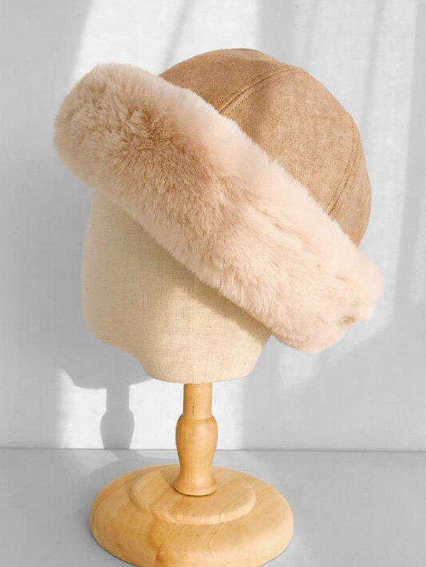 New Faux Fur Winter Thick Bucket Hat