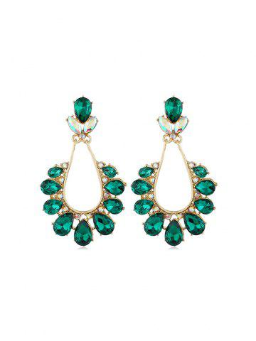 Rhinestone   Earring   Hollow   Water   Out