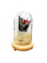Valentine Artificial Flower In The Glass with LED String Light -