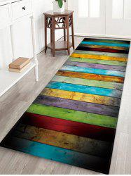 Colorful Wood Pattern Water Absorption Area Rug -