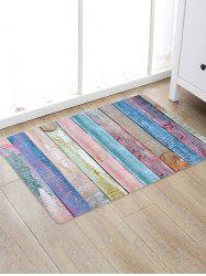 Colored Wood Board Patterned Water Absorption Area Rug -