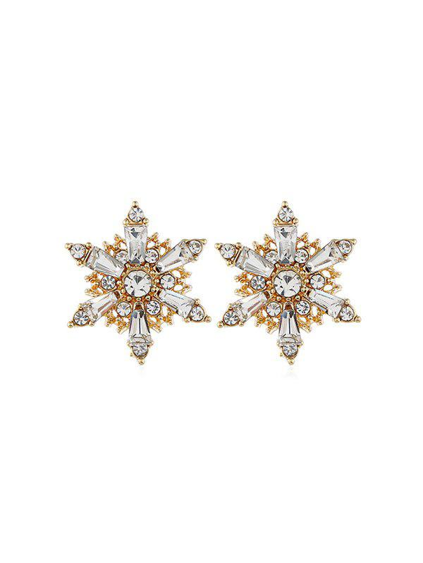 Store Snowflake Hollow Rhinestone Stud Earrings