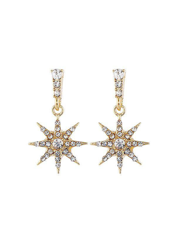 Buy Rhinestone Star Shape Stud Drop Earrings