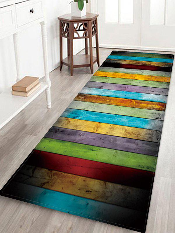 Hot Colorful Wood Pattern Water Absorption Area Rug