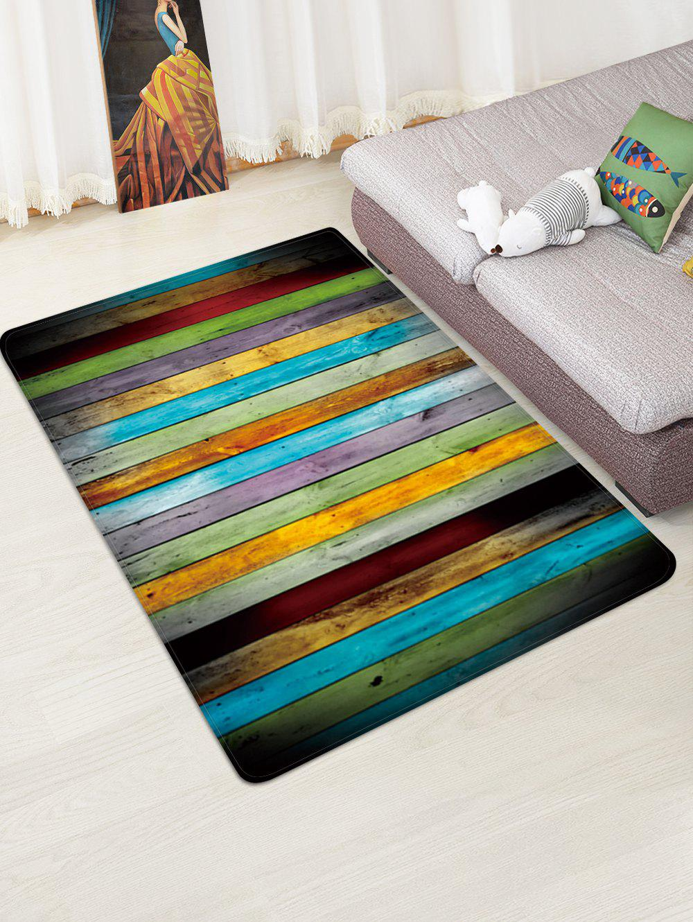 Best Colorful Wood Pattern Water Absorption Area Rug