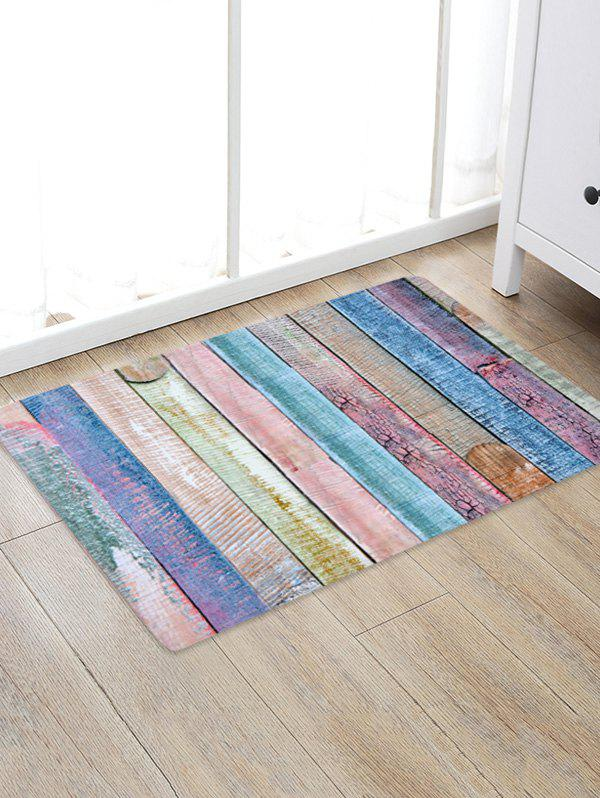 Online Colored Wood Board Patterned Water Absorption Area Rug