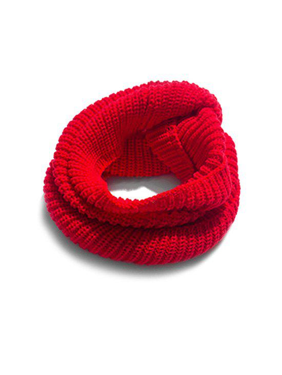 Sale Winter Solid Knitted Neck Scarf