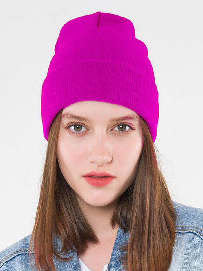 Cheap Solid Brief Winter Knitted Skull Cap