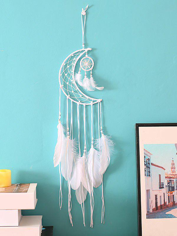 Buy Crescent Beaded Feather Dream Catcher