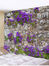 Flower Stone Wall Print Wall Hanging Tapestry -