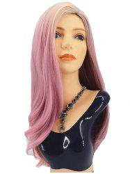 Long Side Parting Straight Colormix Party Synthetic Wig -