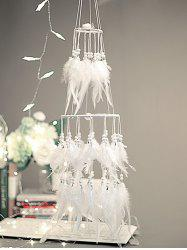 Wedding Decoration Tiered Beaded Feather Dream Catcher -