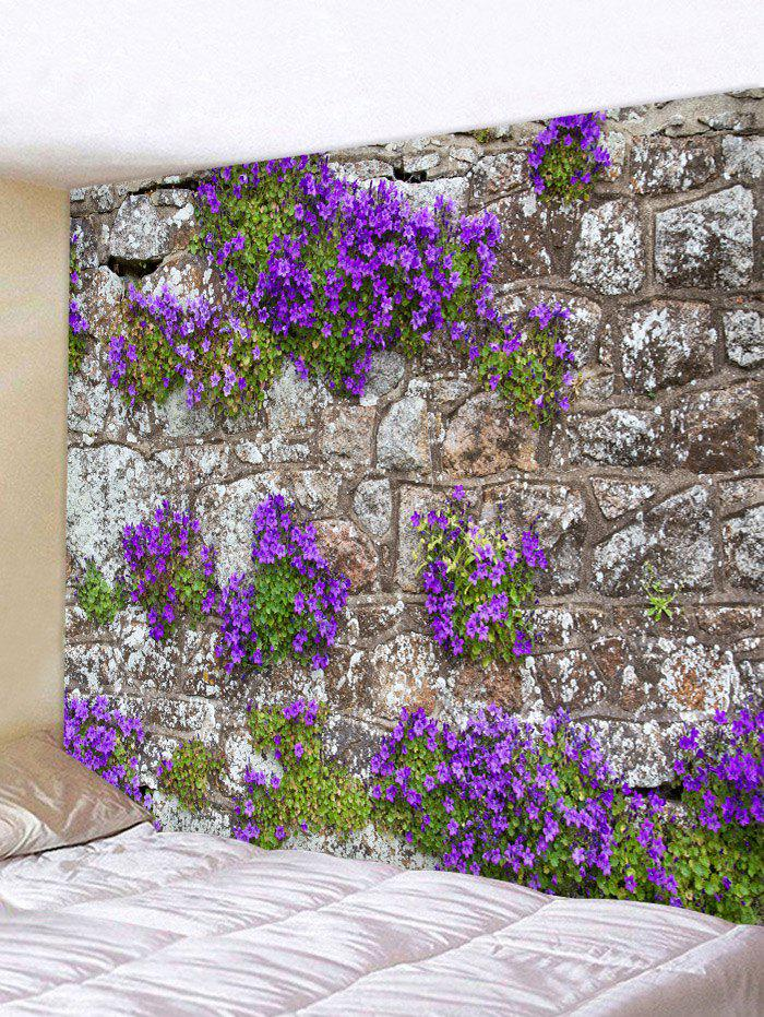 Chic Flower Stone Wall Print Wall Hanging Tapestry