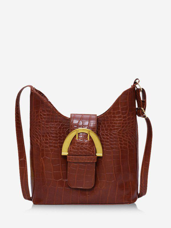 Unique Animal Pattern Pin Buckle PU Leather Crossbody Bag
