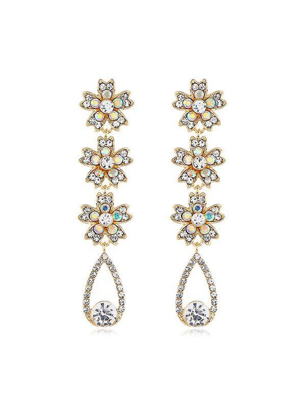 Best Rhinestone Flowers Water Drop Earrings
