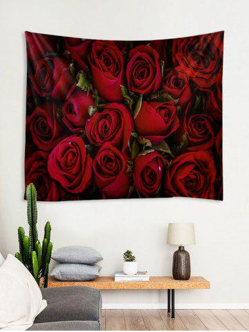 Valentine's Day Rose Printed Wall Tapestry, Firebrick