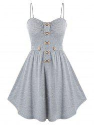 Plus Size Mock Button Embellished Cami Tank Top -