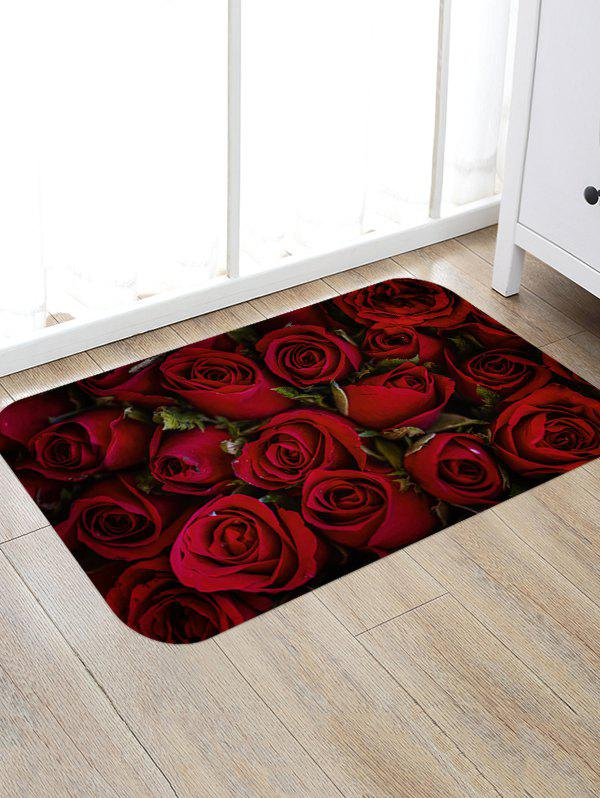 Outfit Valentine Day 3D Rose Flower Printing Floor Rug