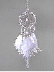 Faux Pearl Beaded Feather Dream Catcher -