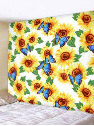 Butterfly and Sunflowers Print Tapestry Wall Hanging Art Decoration -