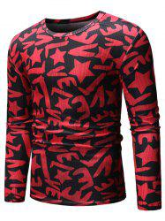 Star Pattern Casual Long-sleeved T-shirt -