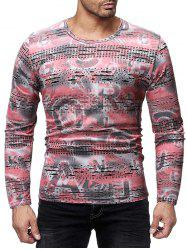 Letter Print Long Sleeves Casual T-shirt -